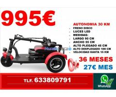 Scooter eléctricos Financiación sin intereses